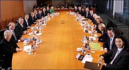 Das Bundeskabinett (Quelle: n24)