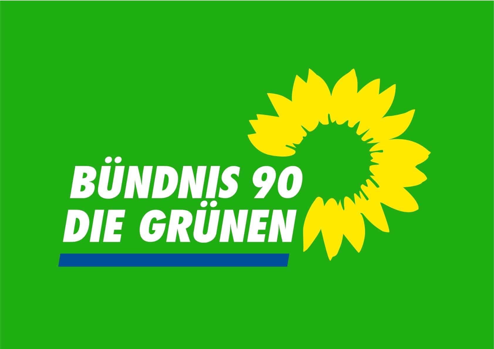 GRÜNE Logo 4farb auf grün