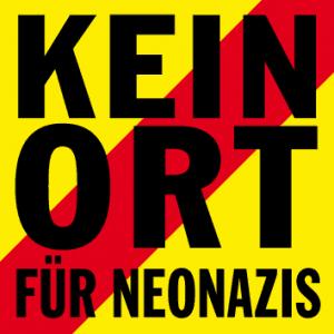"""Logo der Kampagne """"Kein Ort für Neonazis"""" von der Amadeu Antonio Stiftung."""