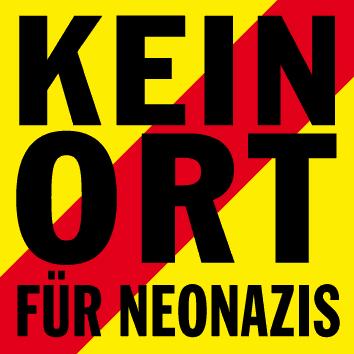 """Logo der Kampagne """"Kein Ort für Neonazis"""""""
