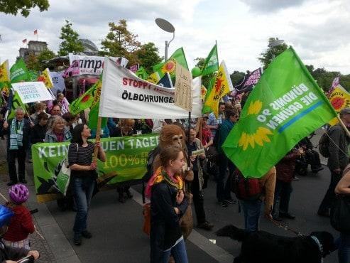 Grüne aus Vorpommern-Rügen und Vorpommern-Greifswald bei der Energiewendedemo in Berlin am 10.5.2014
