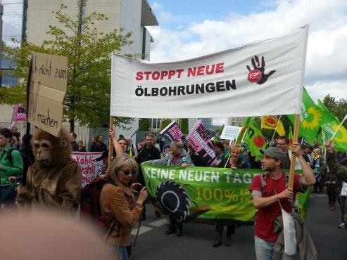 Grüne aus Vorpommern Rügen und Vorpommern-Greifswald am 10.5.2014 in Berlin bei der Energiewendedemo