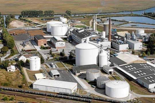 Luftbild Zuckerfabrik