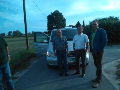 Vor Ort mit BI Mitglieder: Krüger und Okon