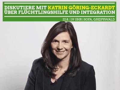 Katrin Göring-Eckardt. Pressefoto: L. Chaperon - B90/Die Grünen