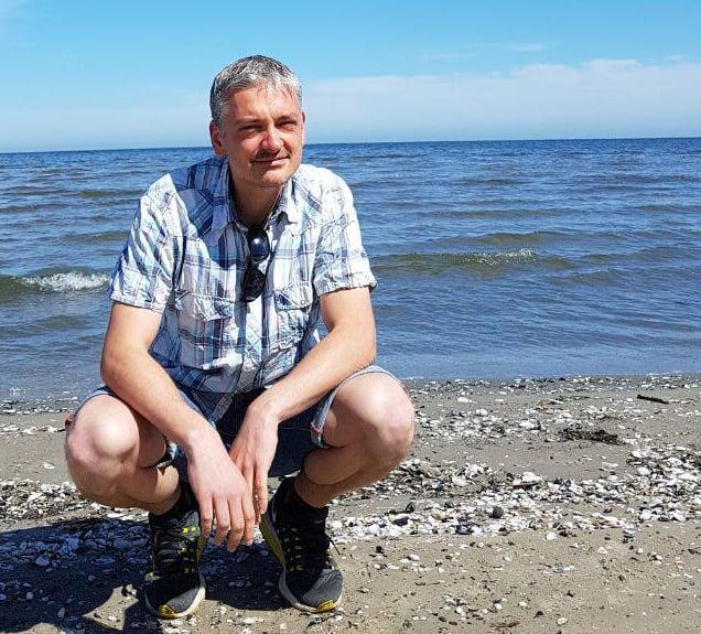Mathias Archut am Strand