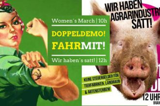Women's March/ Wir haben's satt