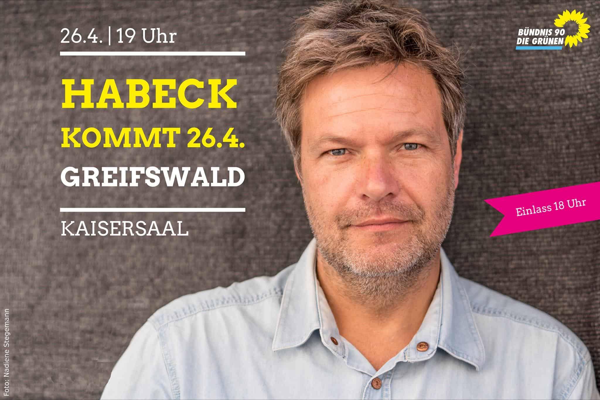 Robert Habeck in Greifswald